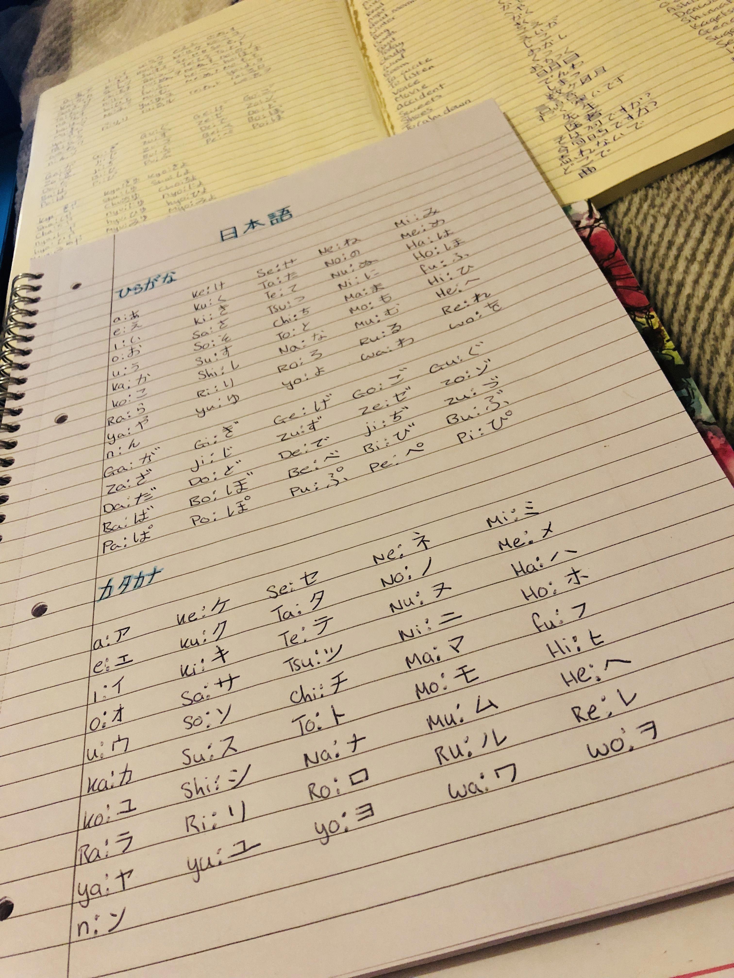 Hiragana And Katakana Japanese Language Study