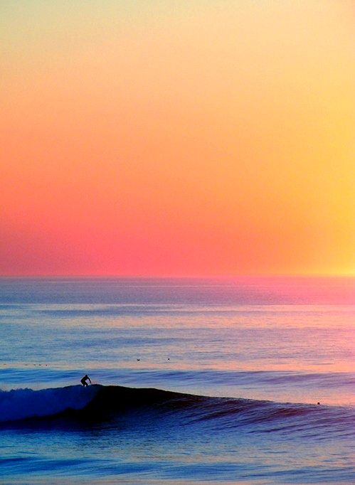 Sorbet sunset smooth surf long summer days color. stunning nature colorful sky sea beach