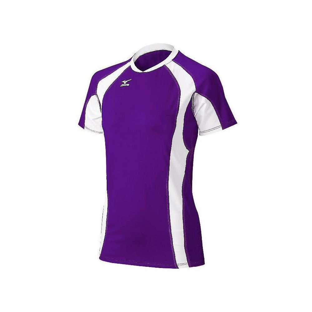 Mizuno Women S Techno Volley V Short Sleeve Volleyball Jersey Size Small In Color Purple W Volleyball Jerseys Volleyball Outfits Street Style Outfit