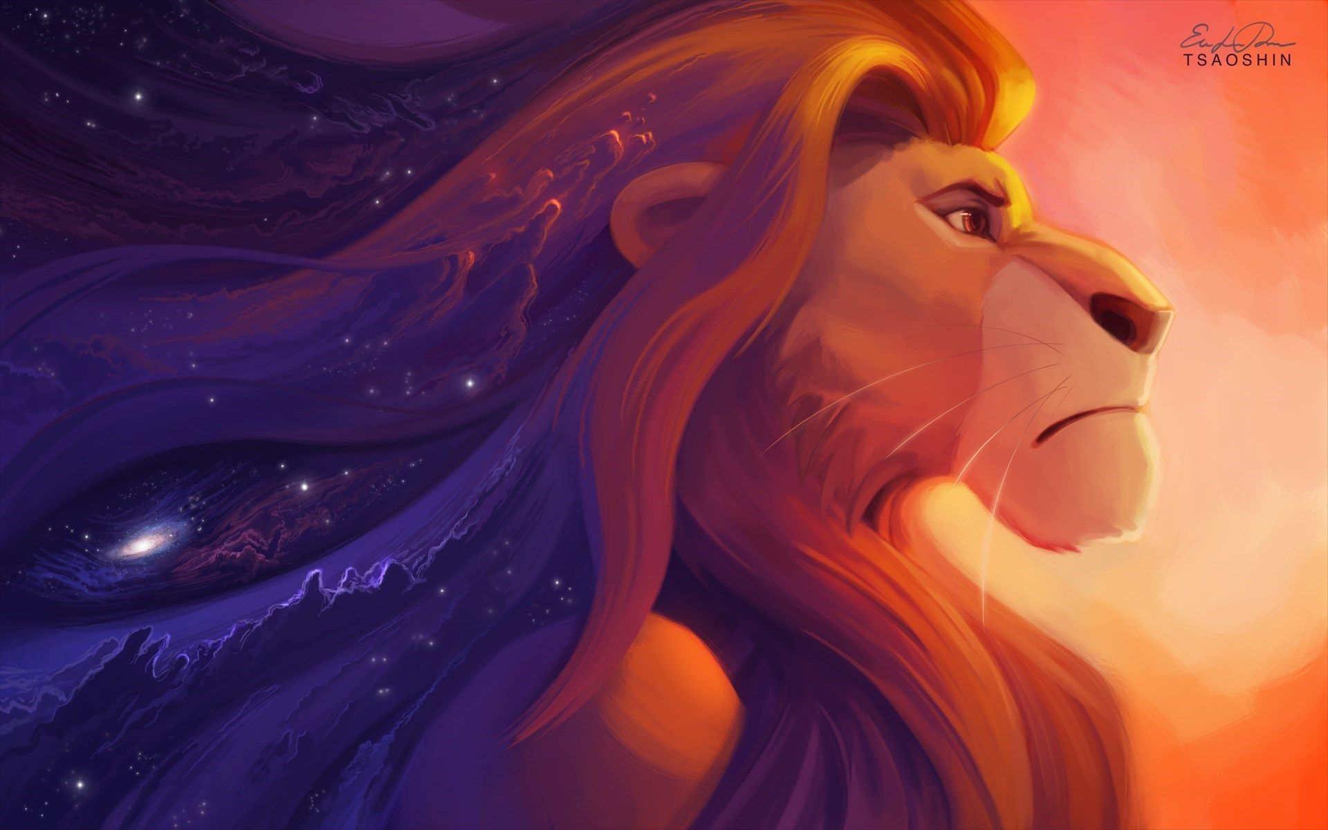 The Lion King Simba Art Cartoon Hd Wallpaper List
