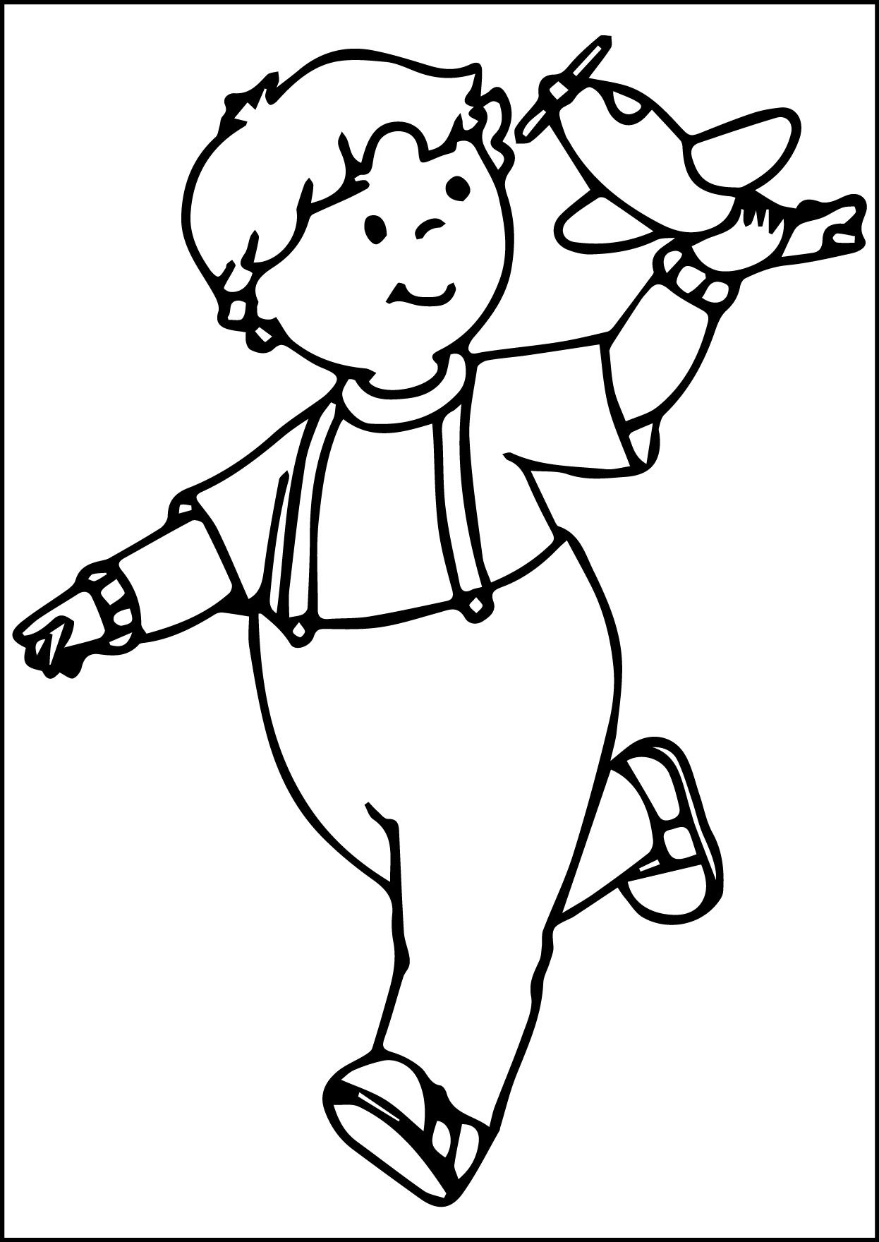 Coloring pages caillou - Cool Caillou Play Plane Coloring Page Check More At Http Www Mcoloring