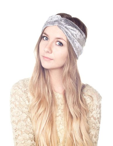 New GOLD VELVET Gypsy BOHO Crushed Velvet STRETCH Turban Headband Turband