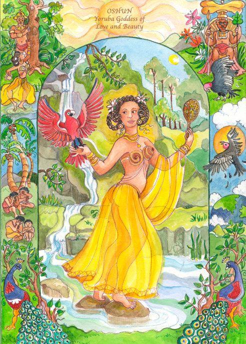 Oshun- Tarot Card   Ifa   Goddess of love, Sacred feminine