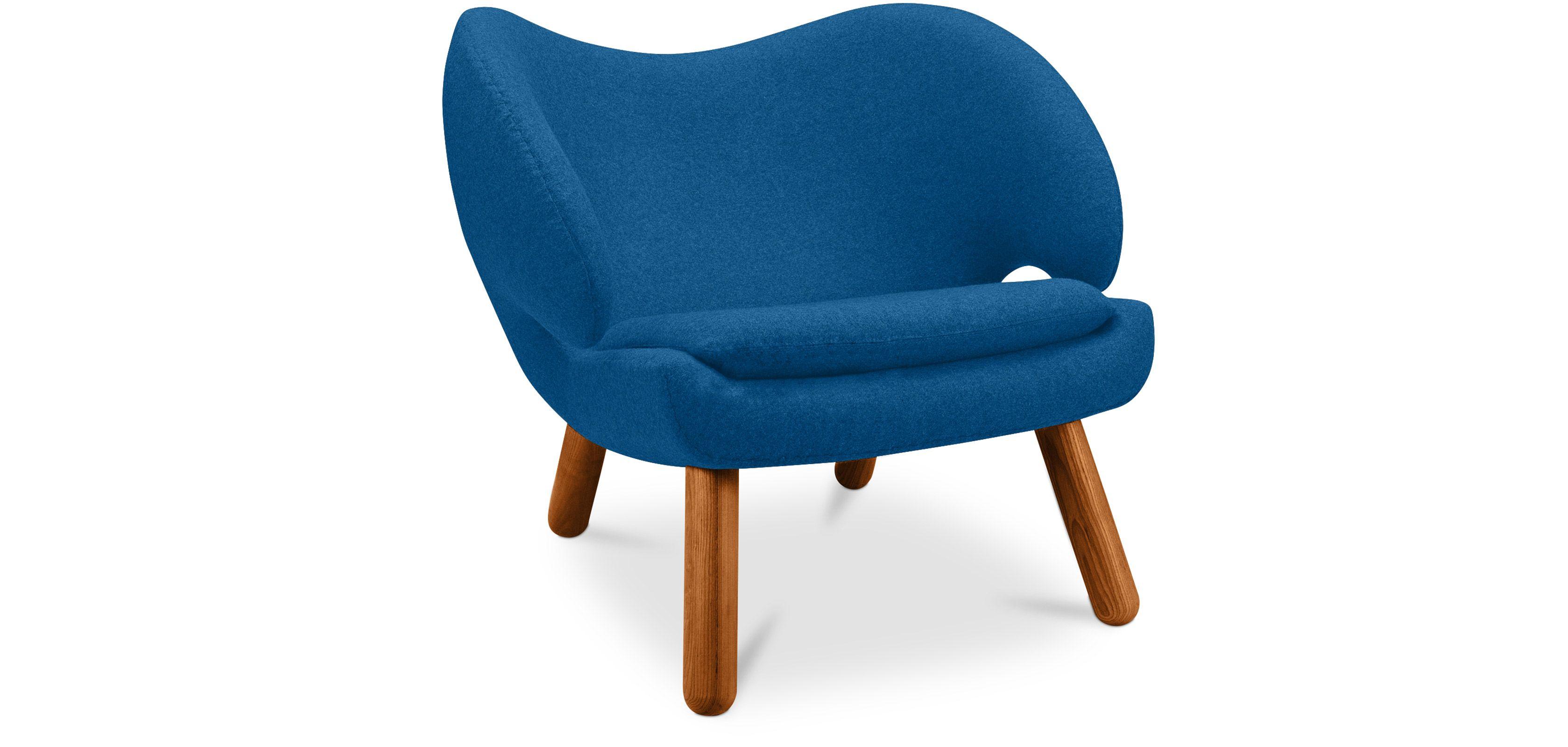 Fauteuil de salon Pélican Design scandinave style Finn Juhl