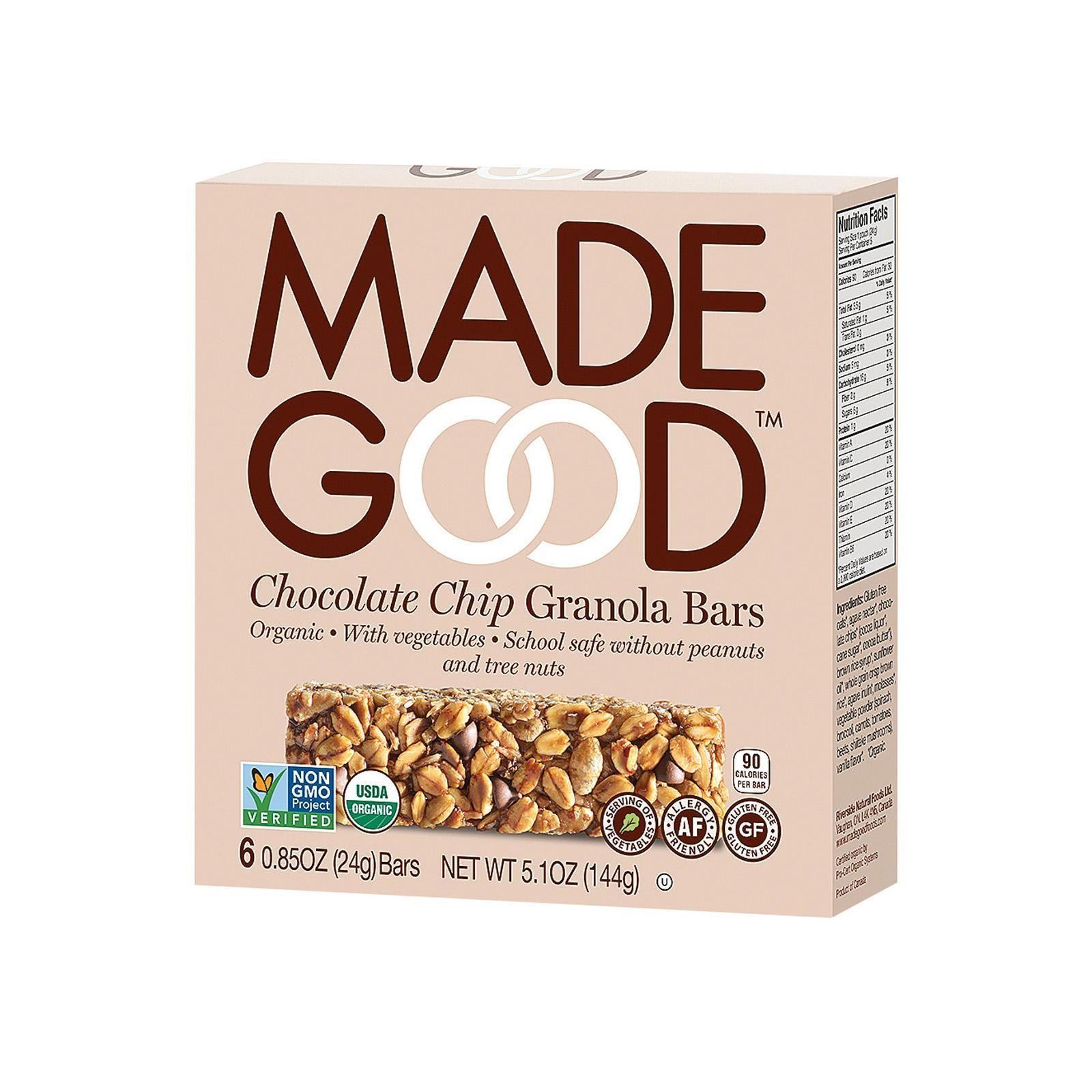 Made Good Granola Bar Chocolate Chip Case Of 6 5 Oz