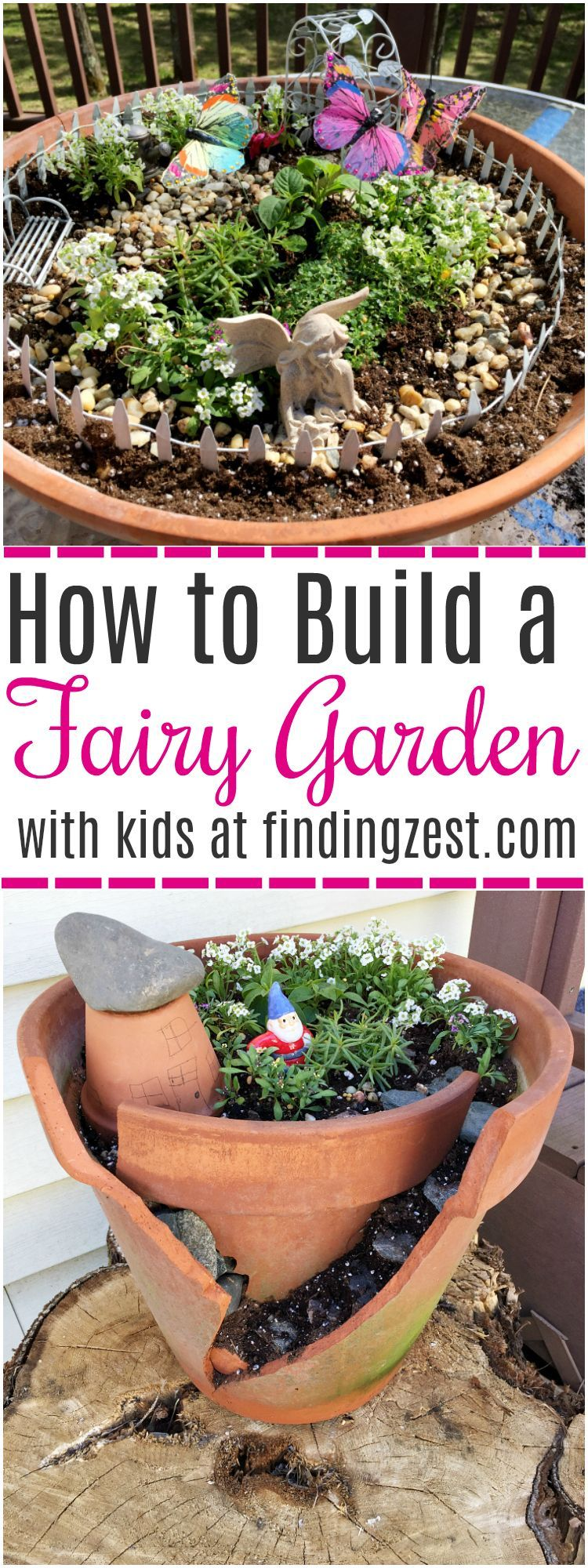 learn how to build a fairy garden with kids in clay pots this kids activity is a great opportunity to teach about plants while having fun - How To Build A Fairy Garden