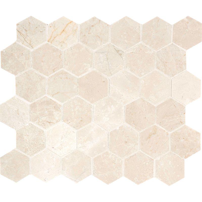Marsala Country Floors Marble Mosaic Mosaic Hexagon