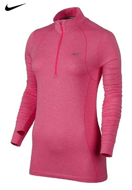 33657044 $109.95 - Nike Women's Dri-FIT Knit Long Sleeve Half Zip Running Shirt  Hyper Punch 588534-660 (X-Large)