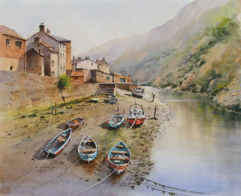 Staithes yorkshire coast by geoff kersey paintings - Dessiner un yorkshire ...