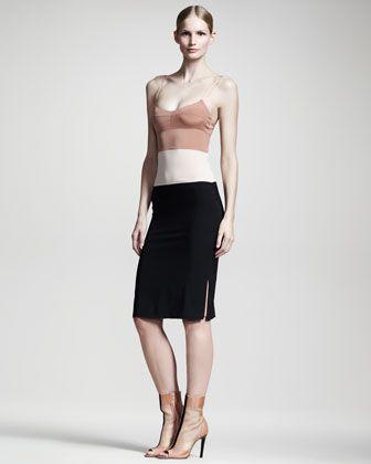 Colorblock Slip Dress by Reed Krakoff at Bergdorf Goodman.