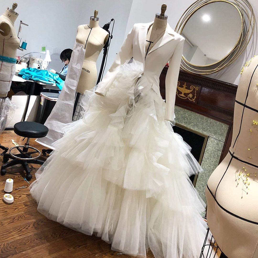17 5k Likes 292 Comments Christian Siriano Csiriano On Instagram Custom Siriano Tuxedo Gown Hybr Wedding Dresses Mermaid Wedding Dress Types Of Dresses [ 1080 x 1080 Pixel ]