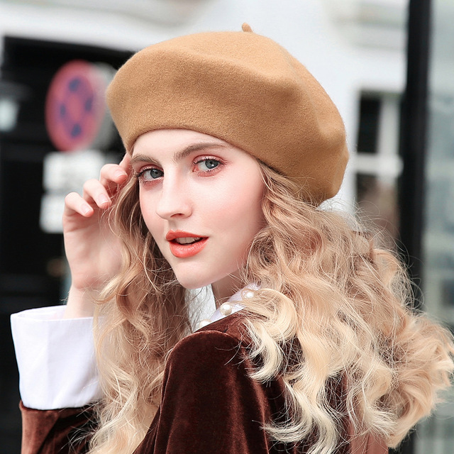 Vintage Womens Ladies Faux PU Leather Beret Hat French Cap Winter Gifts UWUUULK