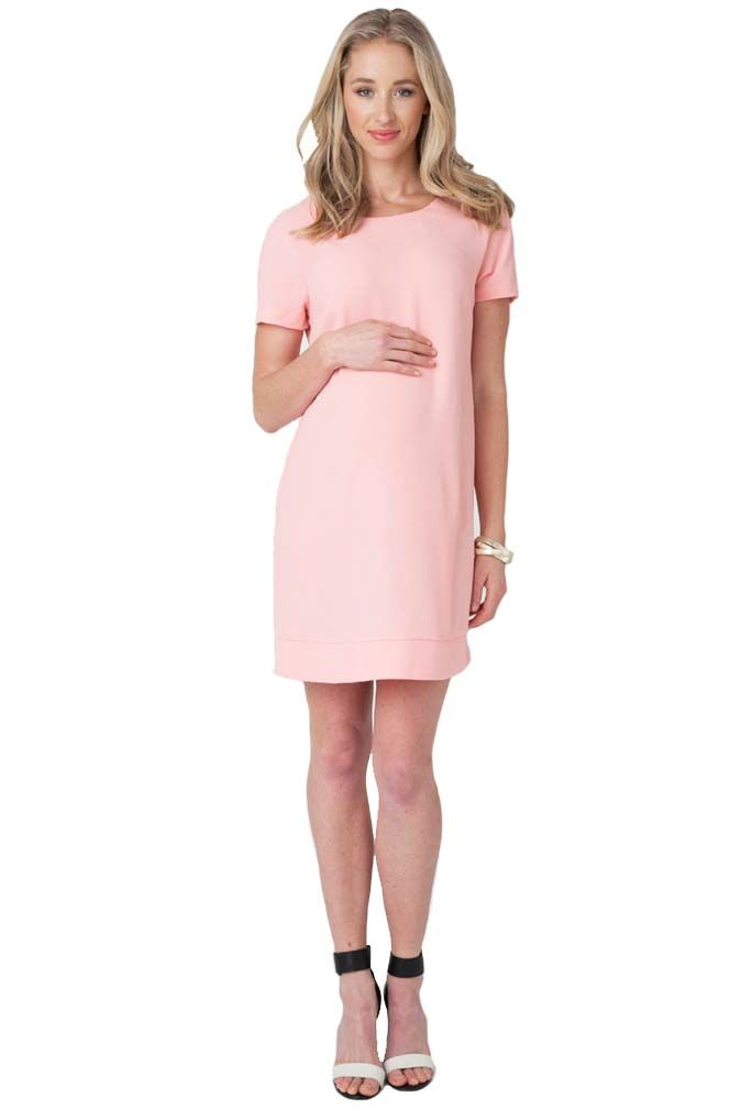 Ripe Maternity Sara Baby Shower Shift Dress Pink XLarge U003eu003eu003e You Can Find  More Details By Visiting The Image Link.