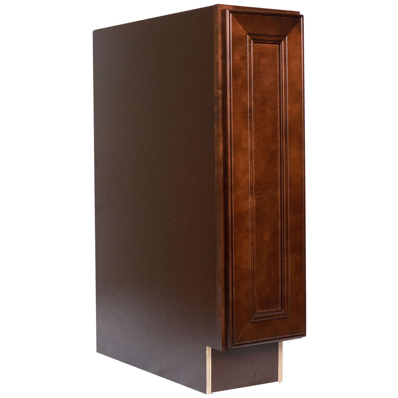 Everyday Cabinets 9-inch Cherry Mahogany Brown Leo Saddle ...