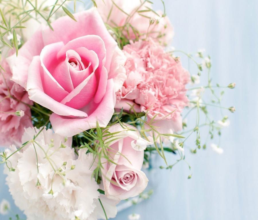 Stunning Pink Rose bouquet wallpaper