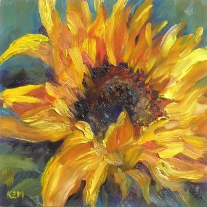 Oil Painting Image Oil Painting Photo Oil Painting Inspiration Oil Painting For Beginners Sunflower Painting