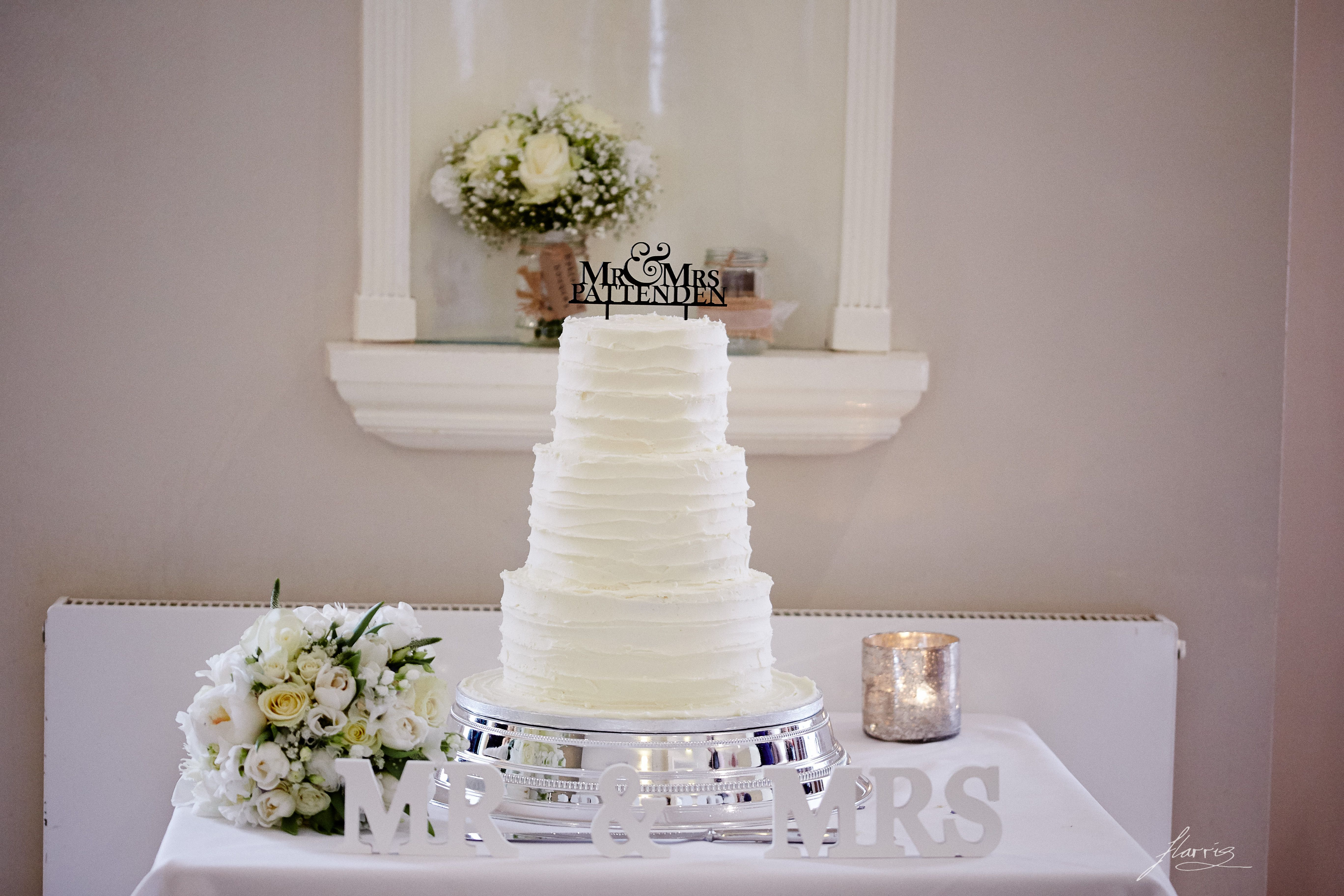 Wedding cake at the losehill house hotel and spa peak district