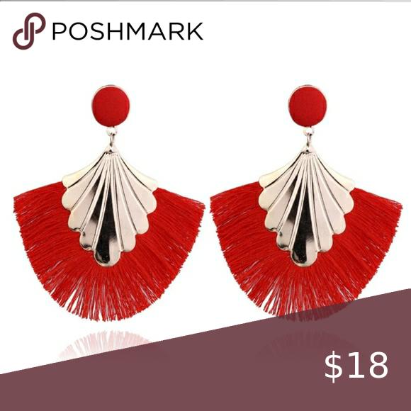 Clip on Dangle Tassel Earrings Long Fringe Drop Bohemian Chandelier Beaded Women Colorful