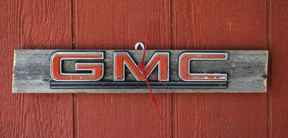 Gmc Emblem Man Cave Shop Garage Clock By Dables On Etsy 35 00