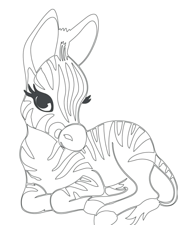 Beautiful Zebra Coloring Pages Free Printable Dibujos De Kakashi Bordado Y Costura Dibujos