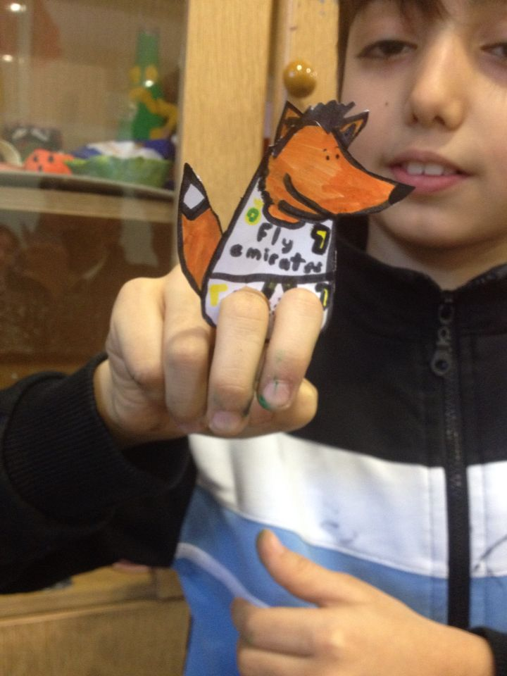 Finger Puppet by 3rd grade
