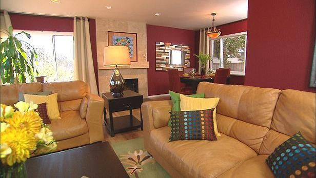 Focus On Modern Design Sleek Decorating Ideas From Rate My Space Cool Burgundy Living Room Decor Inspiration Design