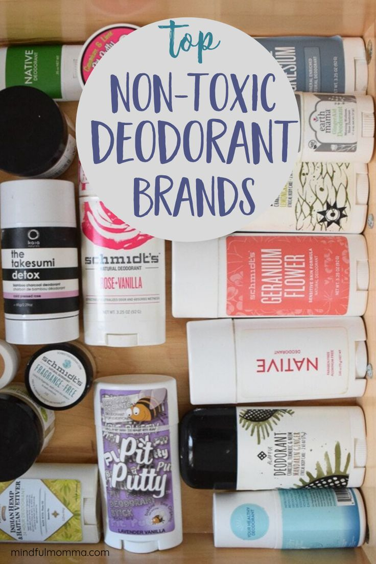 Find the best natural, non-toxic deodorant brands that will work for you! Includes stick deodorants, cream deodorant, plus spray and roll-on styles. | #deodorant #natural #nontoxic #personalcare