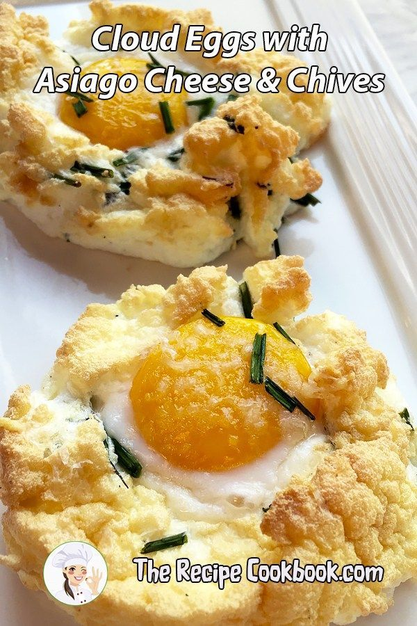 Cloud Eggs with Asiago Cheese & Chives #cloudeggs Cloud Eggs with Asiago Cheese & Chives - The Recipe Cookbook #cloudeggs
