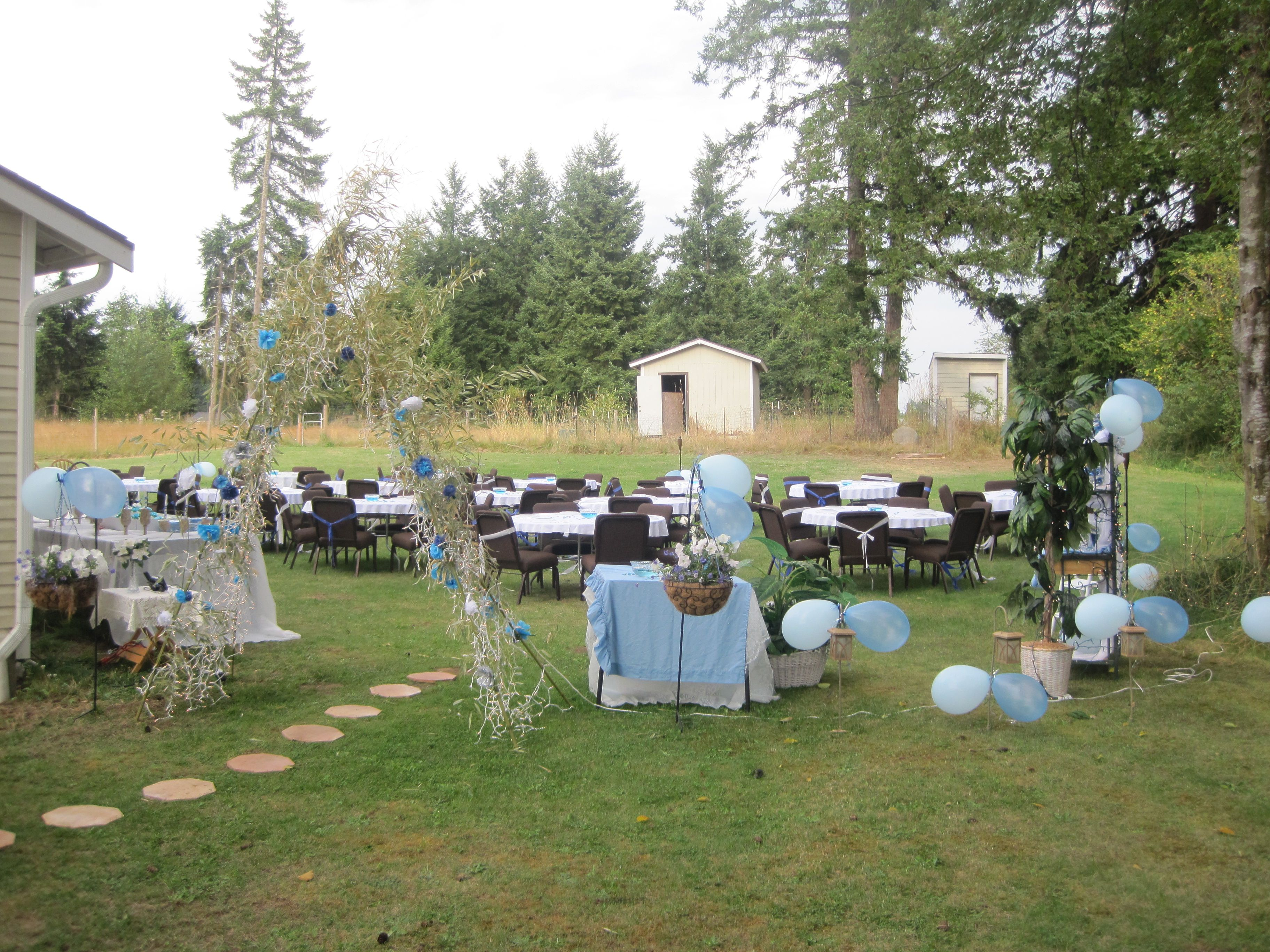 My daughter sweet 16 in our backyard and I did everything ...
