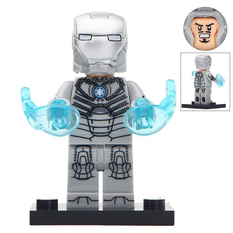 Roblox Iron Man How To Get War Machine Minifigure Iron Man Mark 2 Costume Marvel Super Heroes Compatible Lego Building Block Toys Iron Man Mark 2 Mini Figures Lego Building Blocks