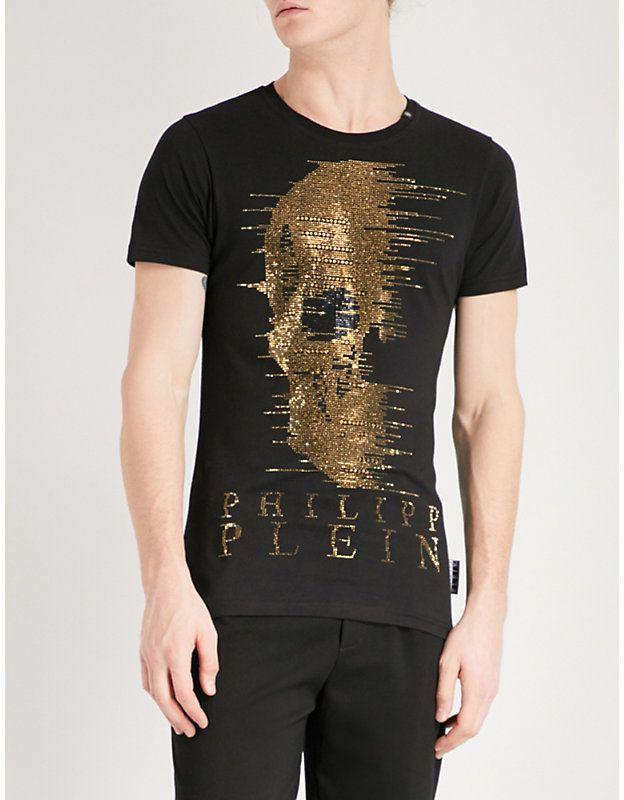 8ca6de766902 Philipp Plein Ghost-S cotton-jersey T-shirt   Tee   Shirts, T shirt ...