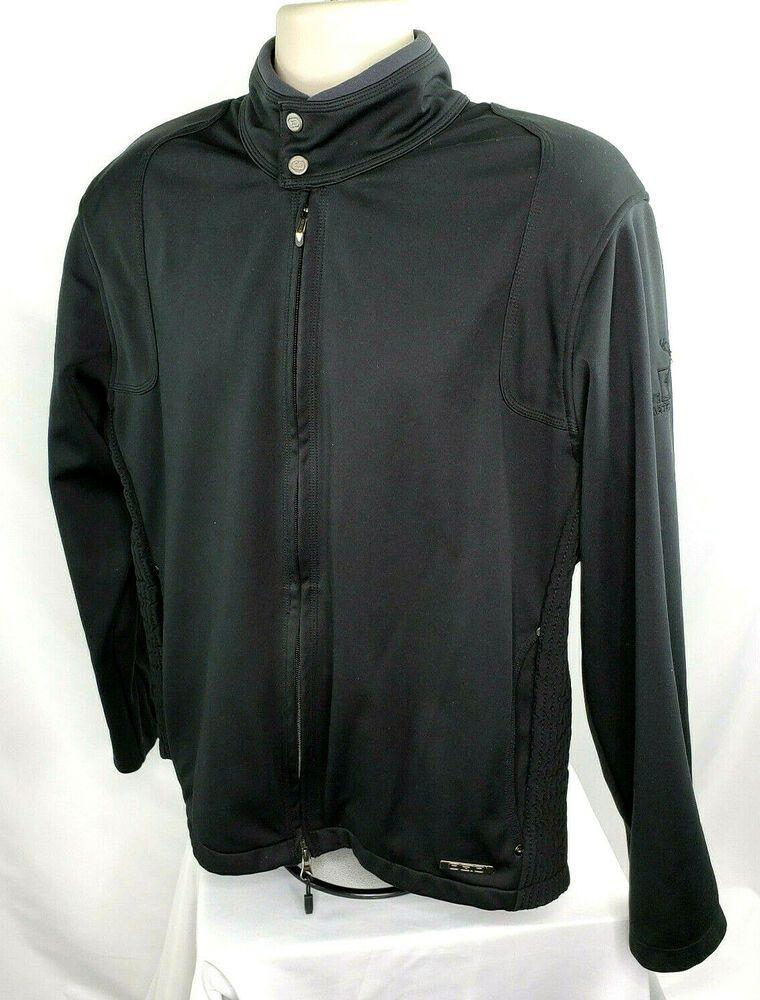 Ogio Mens L Full Zip Golf Jacket The Hartford Logo Black Euc Ogio Softshelljacket Mens Golf Outfit Golf Jackets Jackets