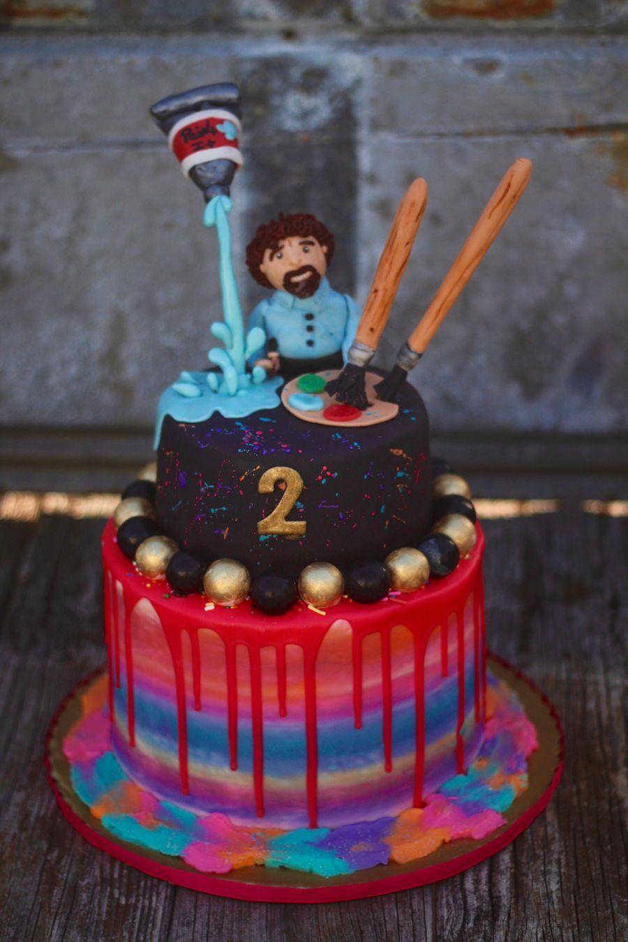 Bob Ross Art Cake Bob ross birthday, Bob ross, Bob ross art