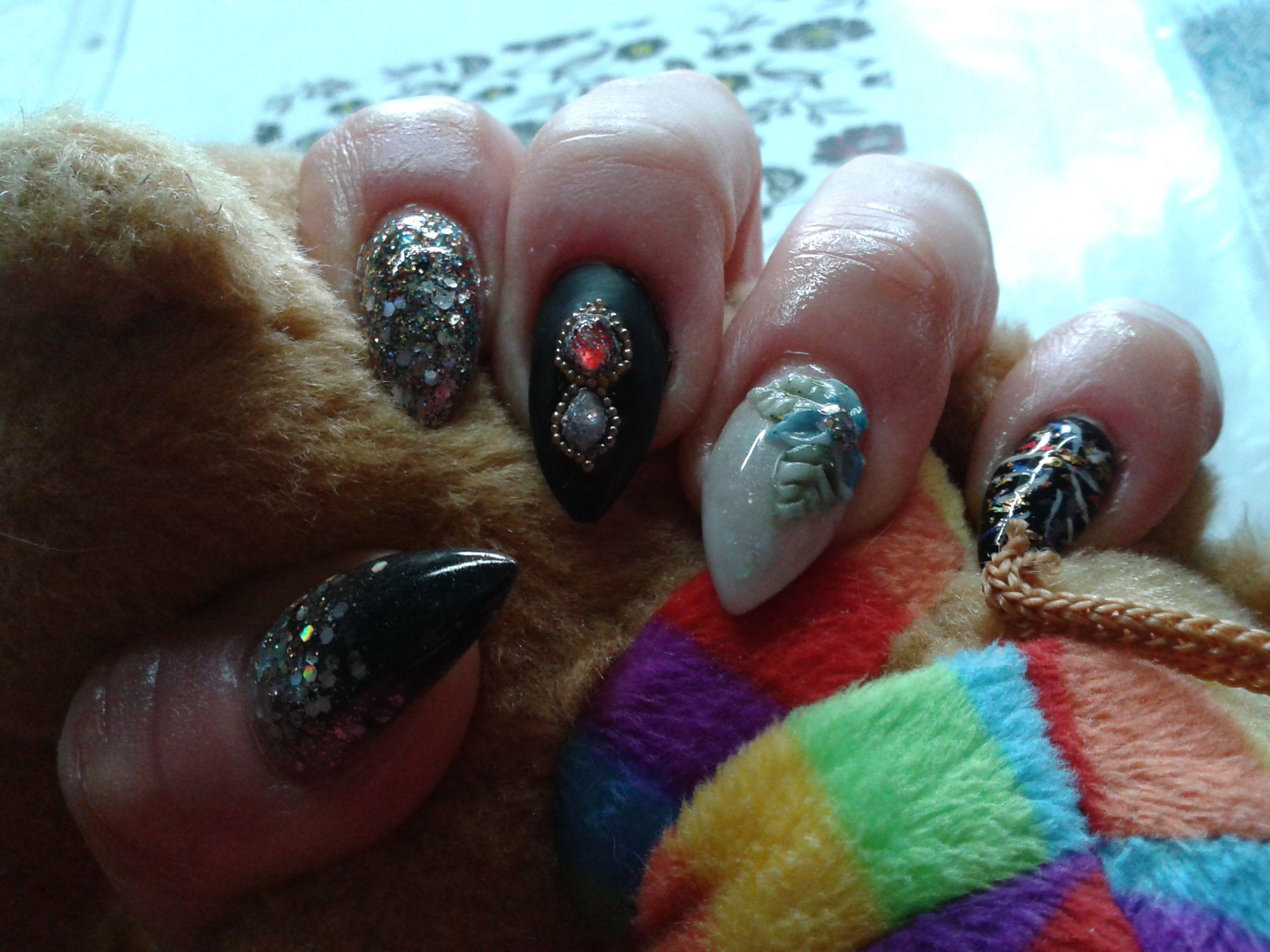 new years eve acrylic nails | moje pomysły (My nail design ideas ...