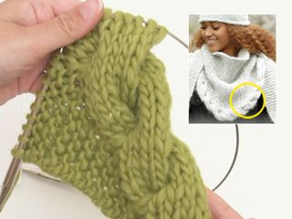 Photo of How to knit the scarf with cable edge DROPS 172-10 (tutorial video)