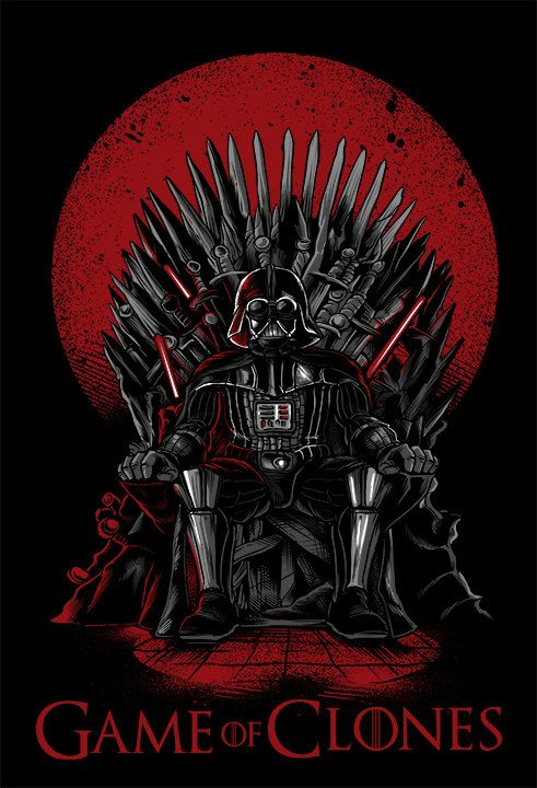 Game of Clones- Game of Thrones Darth Vader parody T - shirt by DramaPatrol on Etsy