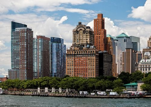 View of the popular Battery Park!