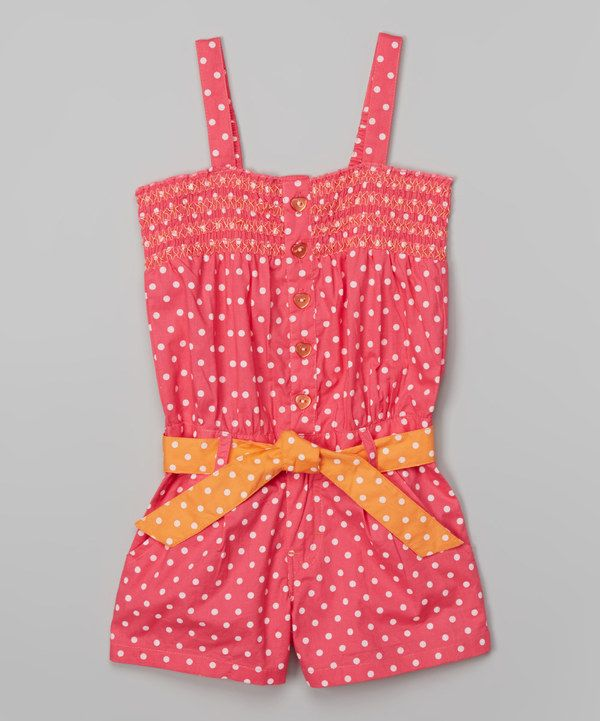 5abed28c4 Look at this Pink Polka Dot Romper - Infant