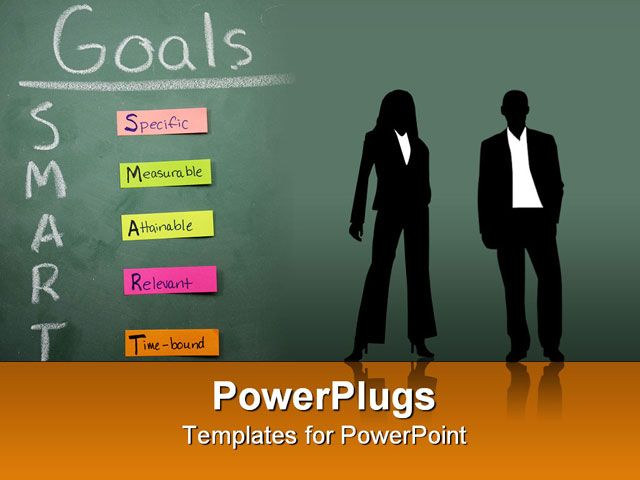 Goal Smart PowerPoint Template Smart Goals specific measurable - smart goals template