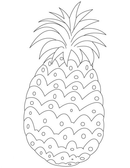 pineapple coloring page download free pineapple coloring page for