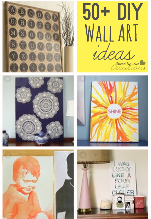 50+ Easy ways to decorate your walls from @savedbyloves | DIY Ideas ...