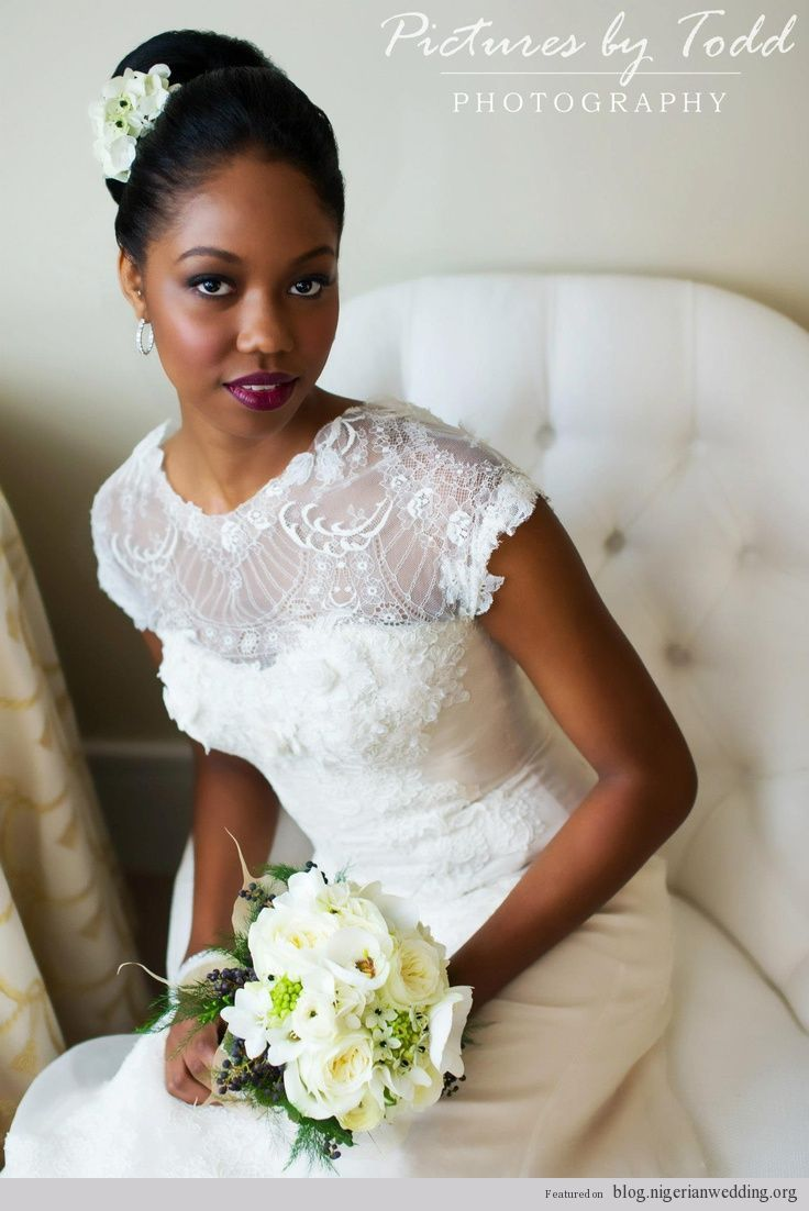 Nigerian wedding 2014 bridal hairstyles white dress for church bride ...