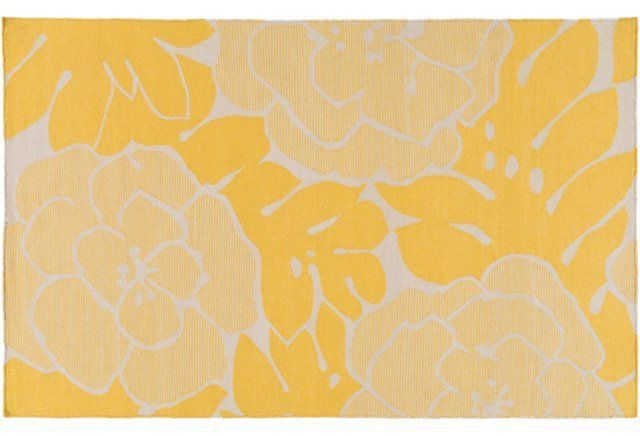 Franklin Flat-Weave Rug, Yellow