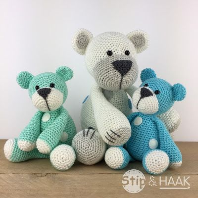 Stip Haak Kleine Beer Haken Crochet Crochet Animals En
