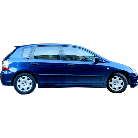 A Blue Hatchback Cutout Png File Shot From The Side View Ready To Work With In Photoshop Family Car Car Hatchback