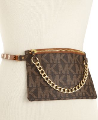 ed3203200d4e MICHAEL KORS Michael Michael Kors Mk Logo Leather Fanny Pack . #michaelkors  #bags #leather #belt bags #