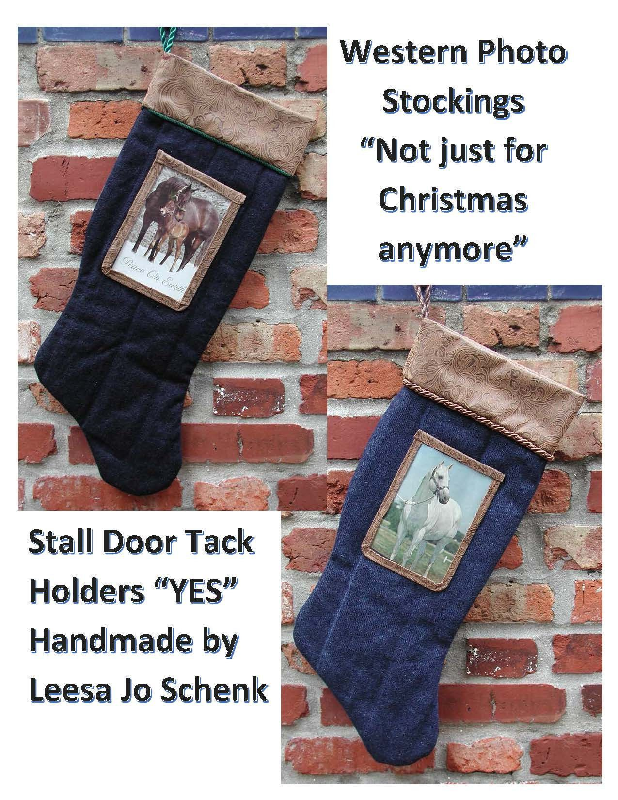 Western Stocking, Stocking with Photo Pocket Not just for