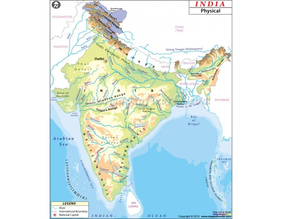 Buy india physical map india buy india physical map gumiabroncs Images