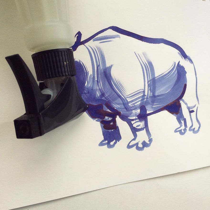 20 Creative Drawings Completed Using Everyday Objects By Christoph Niemann