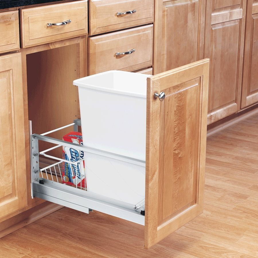 Diy pull out garbage can budgeting room and kitchens diy pull out garbage can waste containerkitchen organizationkitchen solutioingenieria Choice Image